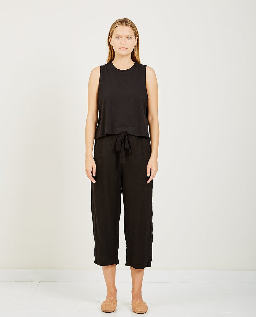 Cropped Tank Black-RICHER POORER-American Rag Cie