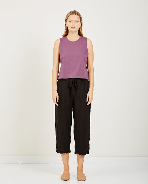 RICHER POORER CROPPED TANK PLUM