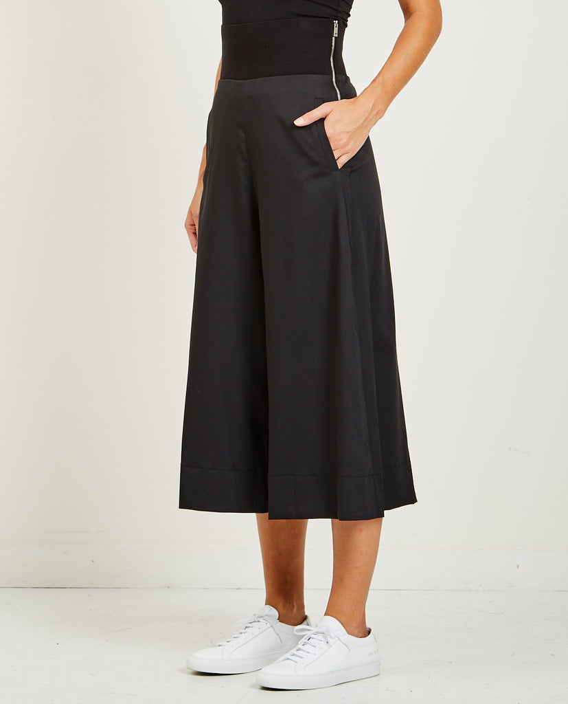 DEMOO PARKCHOONMOO-CROPPED WIDE PANTS-Women Pants-{option1]