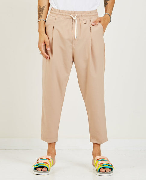 DROLE DE MONSIEUR Cropped Wool Pants Taupe
