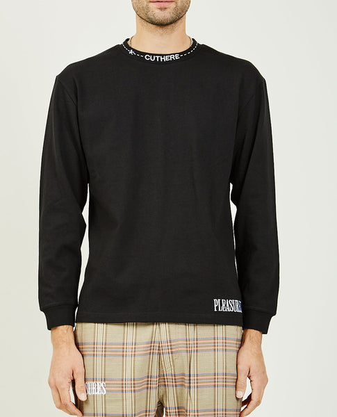 PLEASURES CUT HERE HEAVYWEIGHT LONG SLEEVE SHIRT