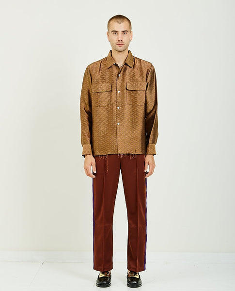 NEEDLES CUT-OFF HEM CLASSIC SHIRT
