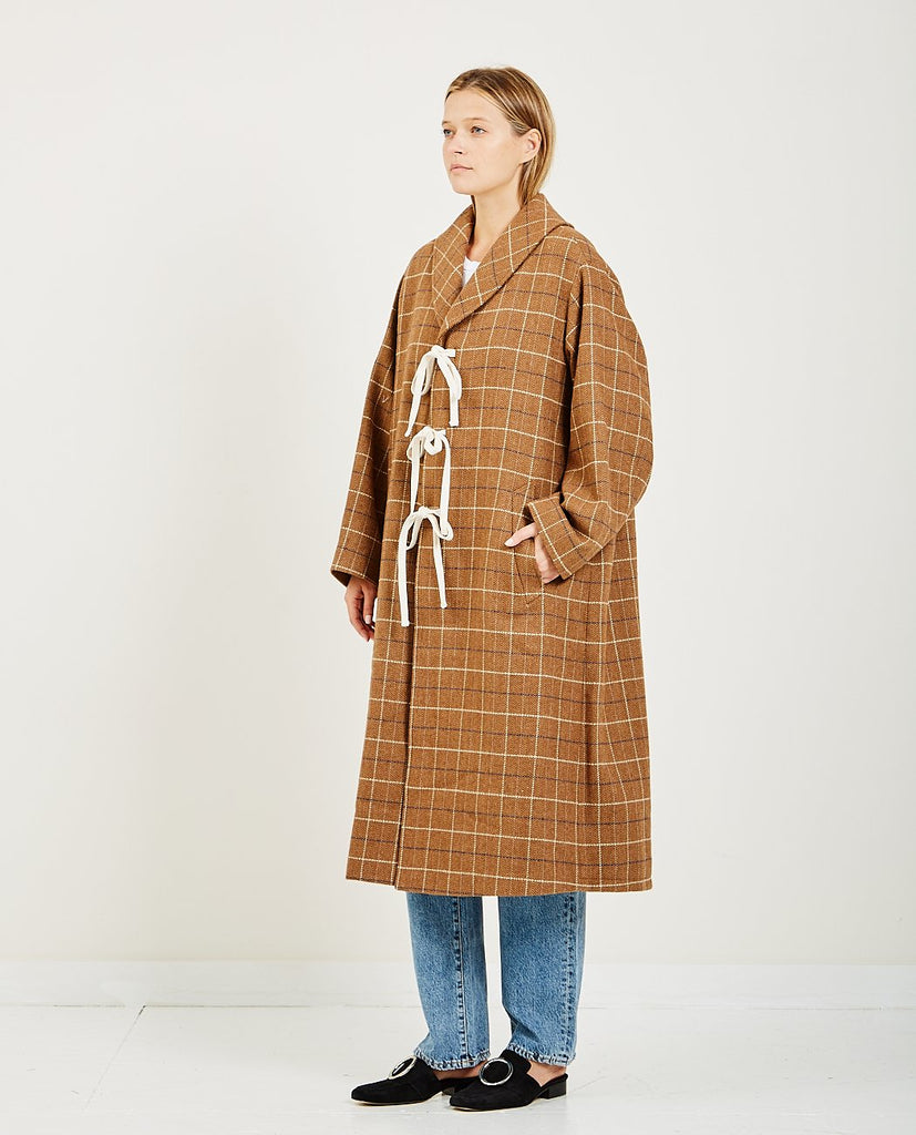 NEUL-DADDY'S CHECK WORK COAT-Women Coats + Jackets-{option1]