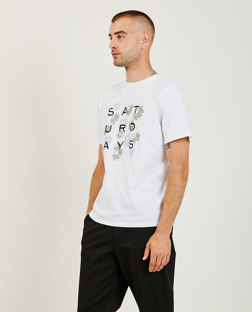 Daisy Grid Tee-SATURDAYS NYC-American Rag Cie