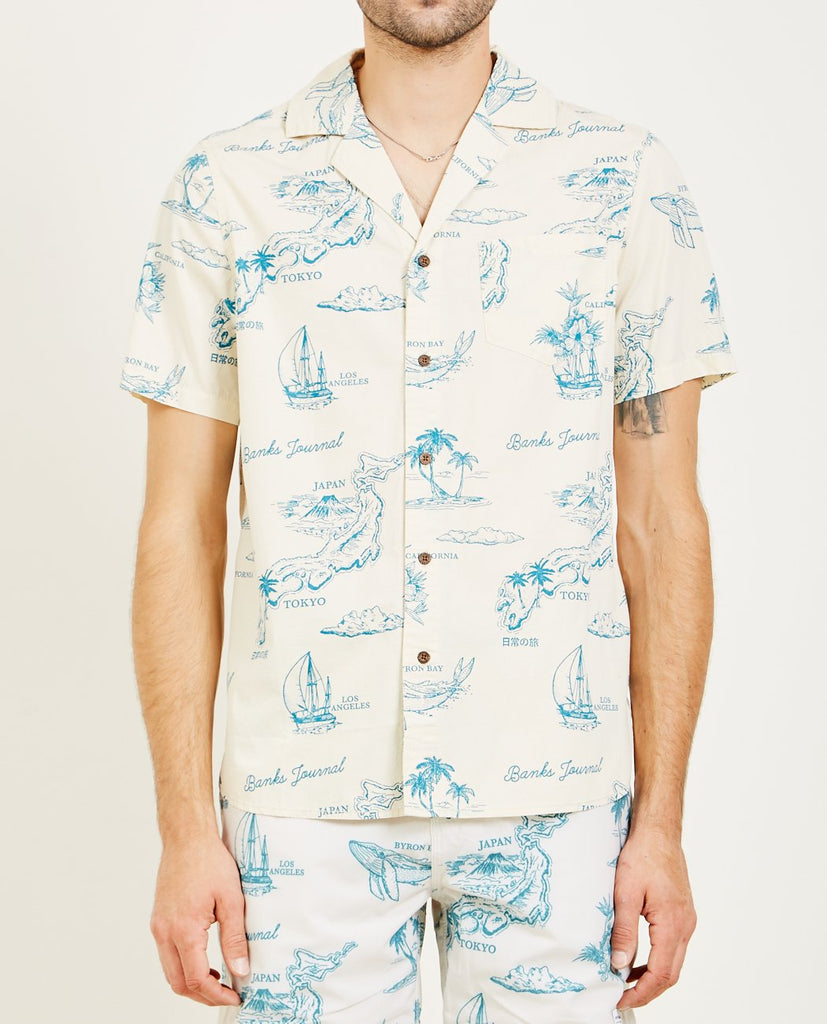 BANKS JOURNAL-DAYDREAMS SHORT SLEEVE SHIRT-Men Shirts-{option1]
