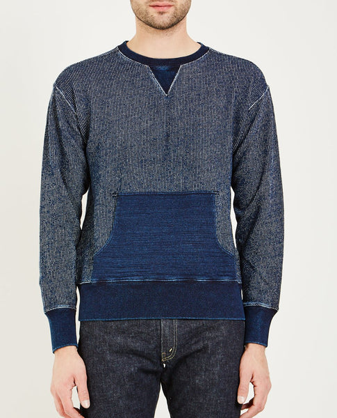 RRL DBL V LONG SLEEVE KNIT- INDIGO