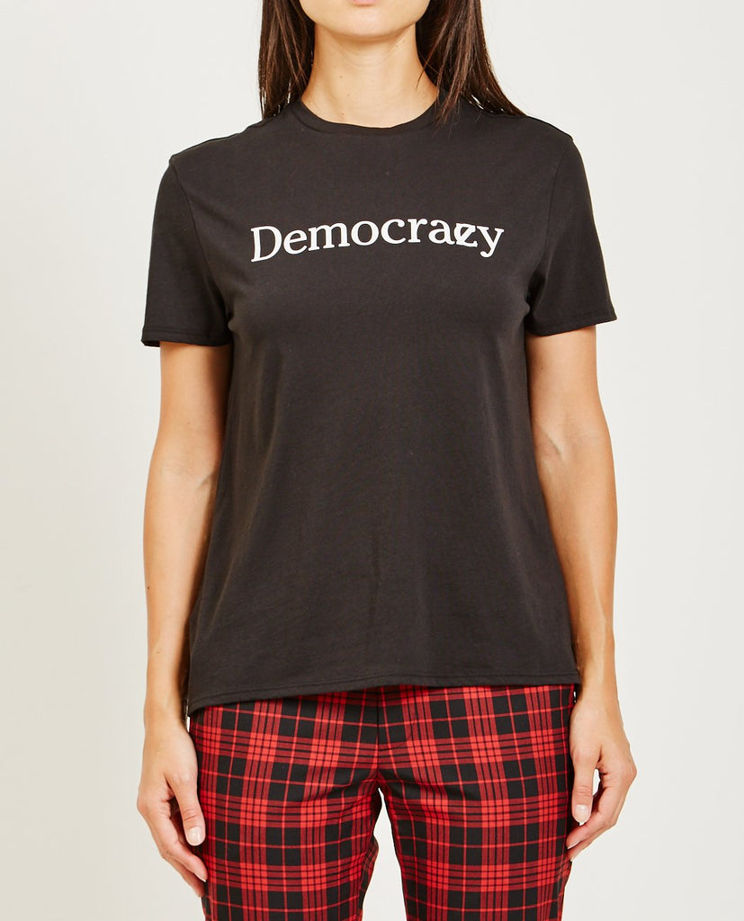 6397-DEMOCRAZY BOY TEE-Women Tees + Tanks-{option1]