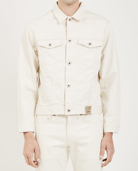 NAKED & FAMOUS DENIM JACKET NATURAL SEED