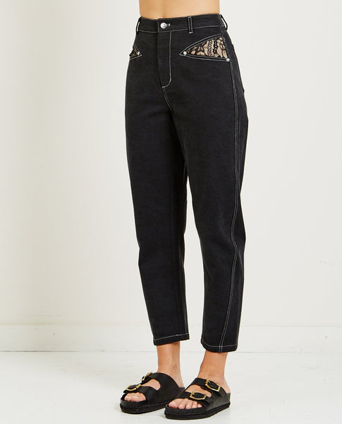 OPENING CEREMONY DENIM LACE JEAN