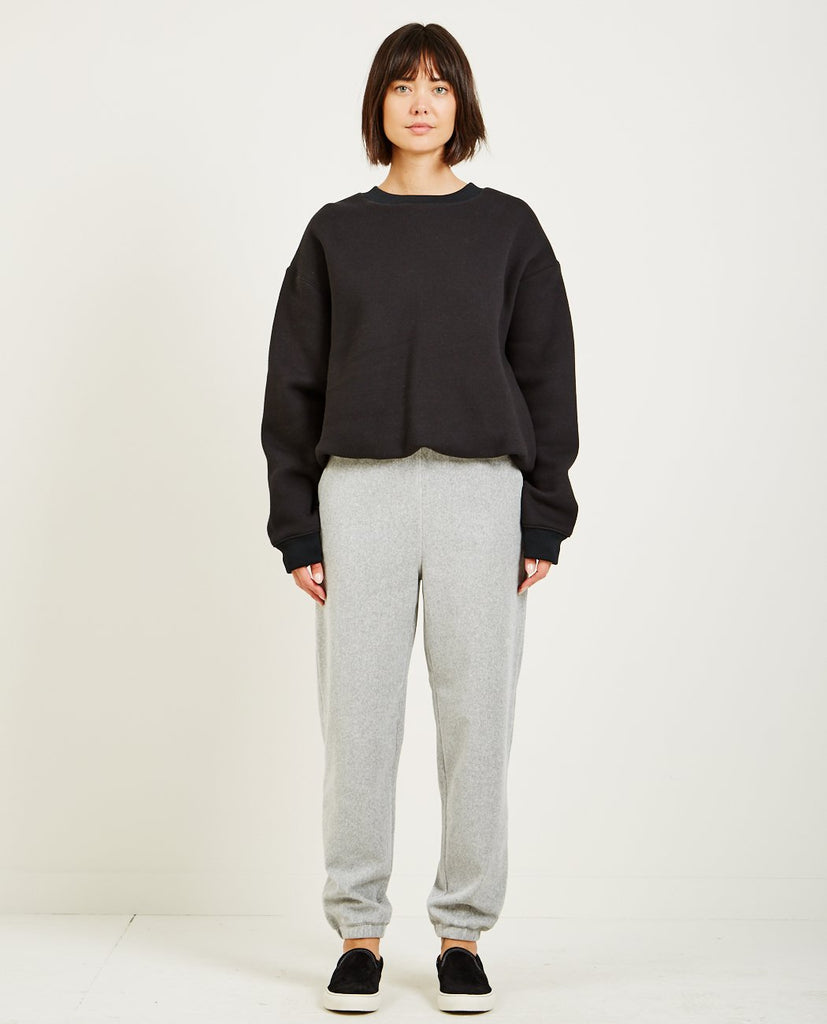 T BY ALEXANDER WANG-DENSE FLEECE CREWNECK SWEATSHIRT-Women Sweaters + Sweatshirts-{option1]