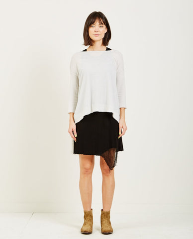 T BY ALEXANDER WANG PULLOVER TWIST DETAIL TEE