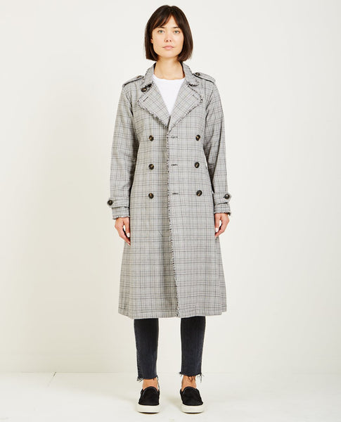 NSF DORIAN UNLINED TRENCH COAT