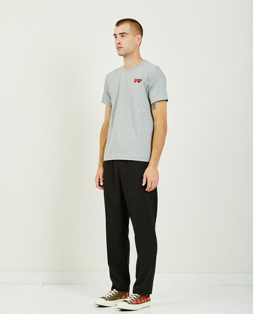 COMME DES GARÇONS PLAY-DOUBLE HEART PLAY TEE-Men Tees + Tanks-{option1]