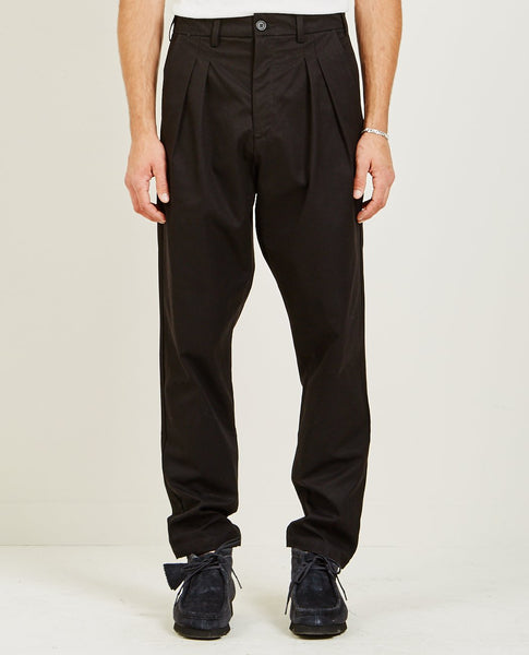 BILLY LOS ANGELES DOUBLE PLEATED TROUSER BLACK