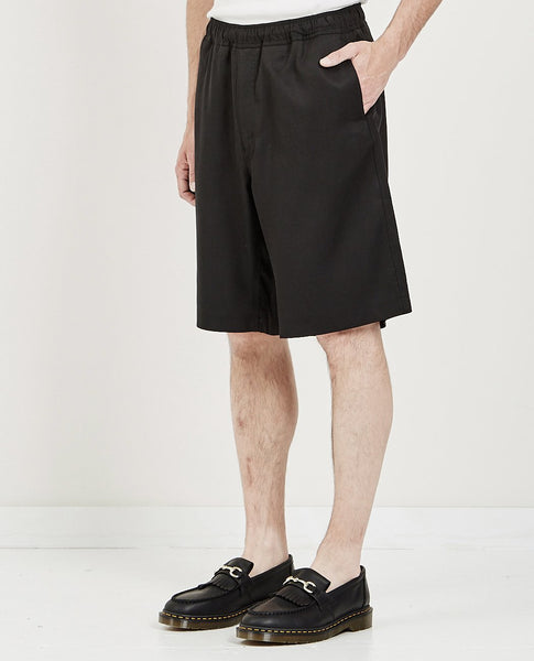 OUR LEGACY DRAPE SHORT SOLID BLACK