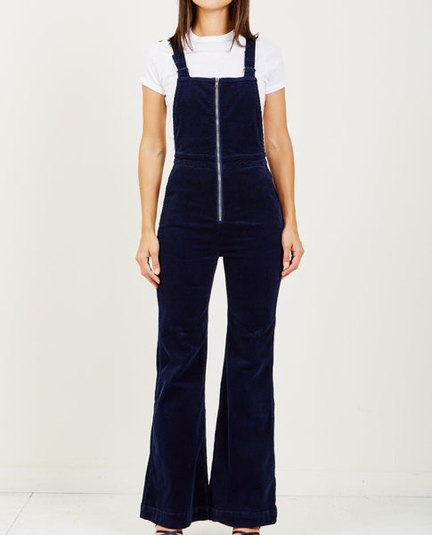 ROLLA'S EAST COAST FLARE OVERALL MIDNIGHT CORD
