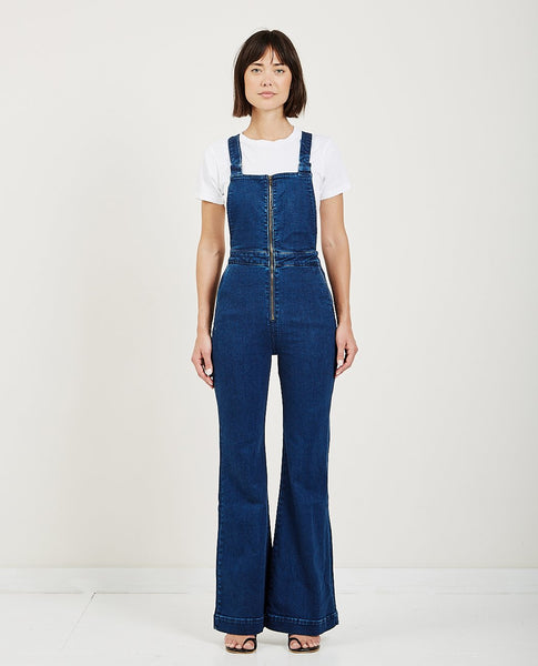 ROLLA'S EASTCOAST FLARE OVERALL FRENCH BLUE