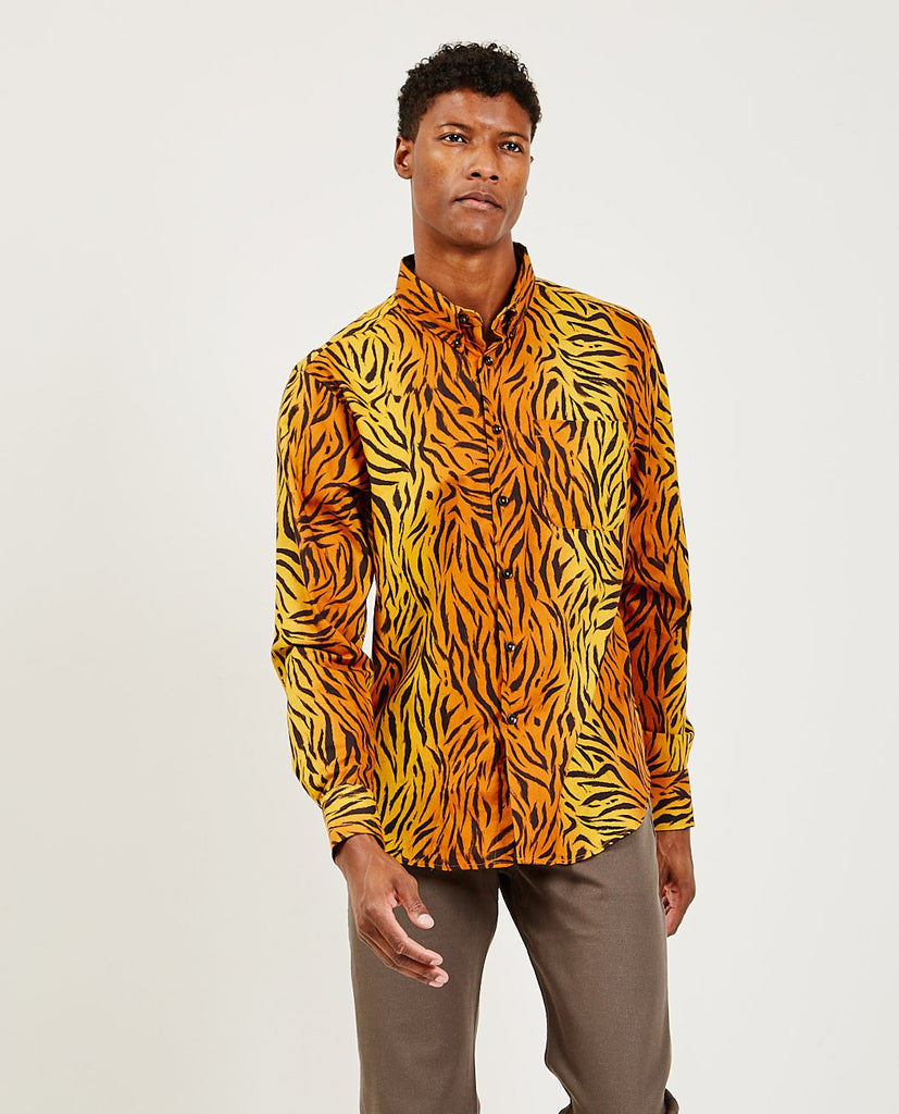 Easy Shirt Big Tiger-NAKED AND FAMOUS-American Rag Cie