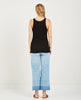 AG JEANS-EBBY TANK TRUE BLACK-Women Tees + Tanks-{option1]