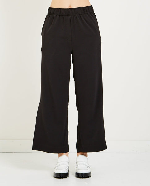MIJEONG PARK ELASTIC WAIST CROPPED TROUSER