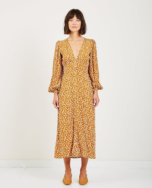 RUE STIIC ELLIOT MIDI DRESS COLORADO DAISY