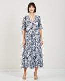 GANNI-ELM GEORGETTE DRESS HEATHER-Dresses-{option1]