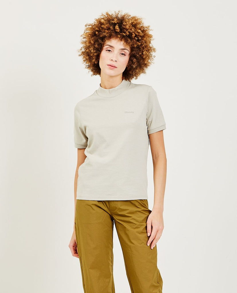 STUSSY Embroidered Mock Tee