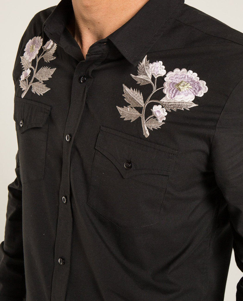 EMBROIDERED ROSE SHIRT-ROLLA'S-American Rag Cie