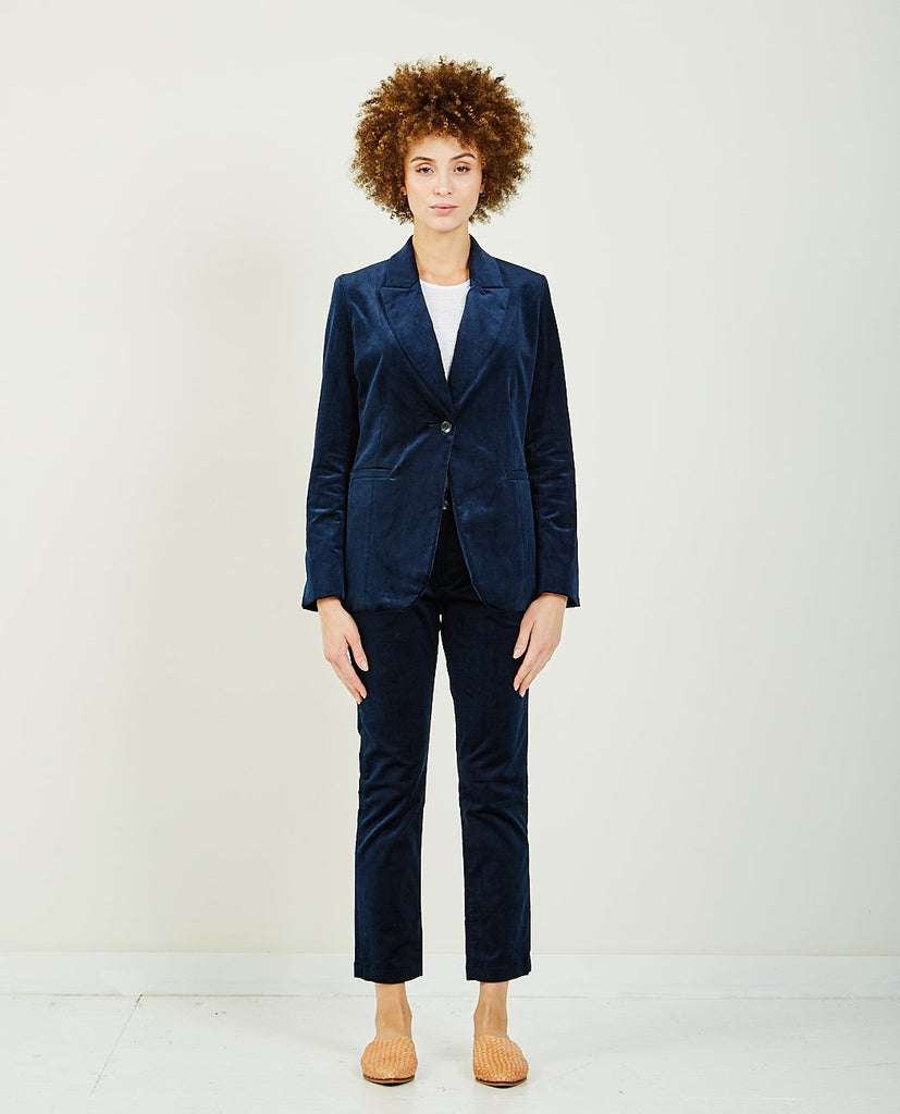 TRAVE EMERSON BLAZER BLUE VELVET