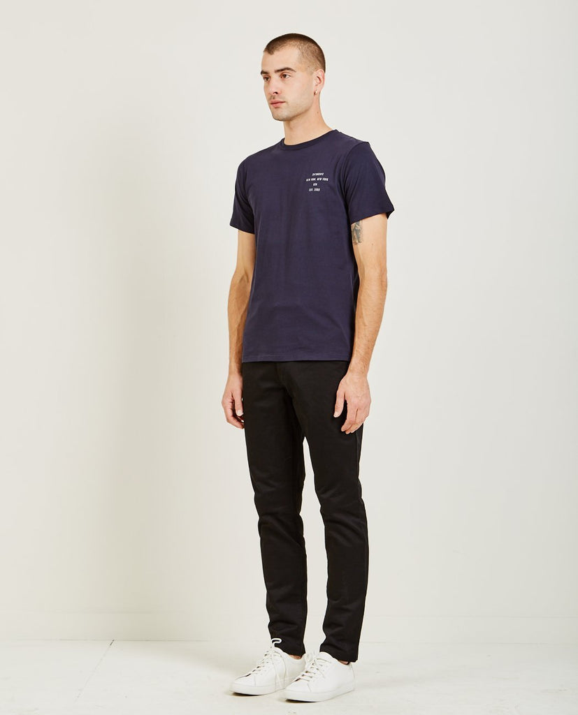 ESTABLISHED CHEST LOGO TEE-SATURDAYS NYC-American Rag Cie