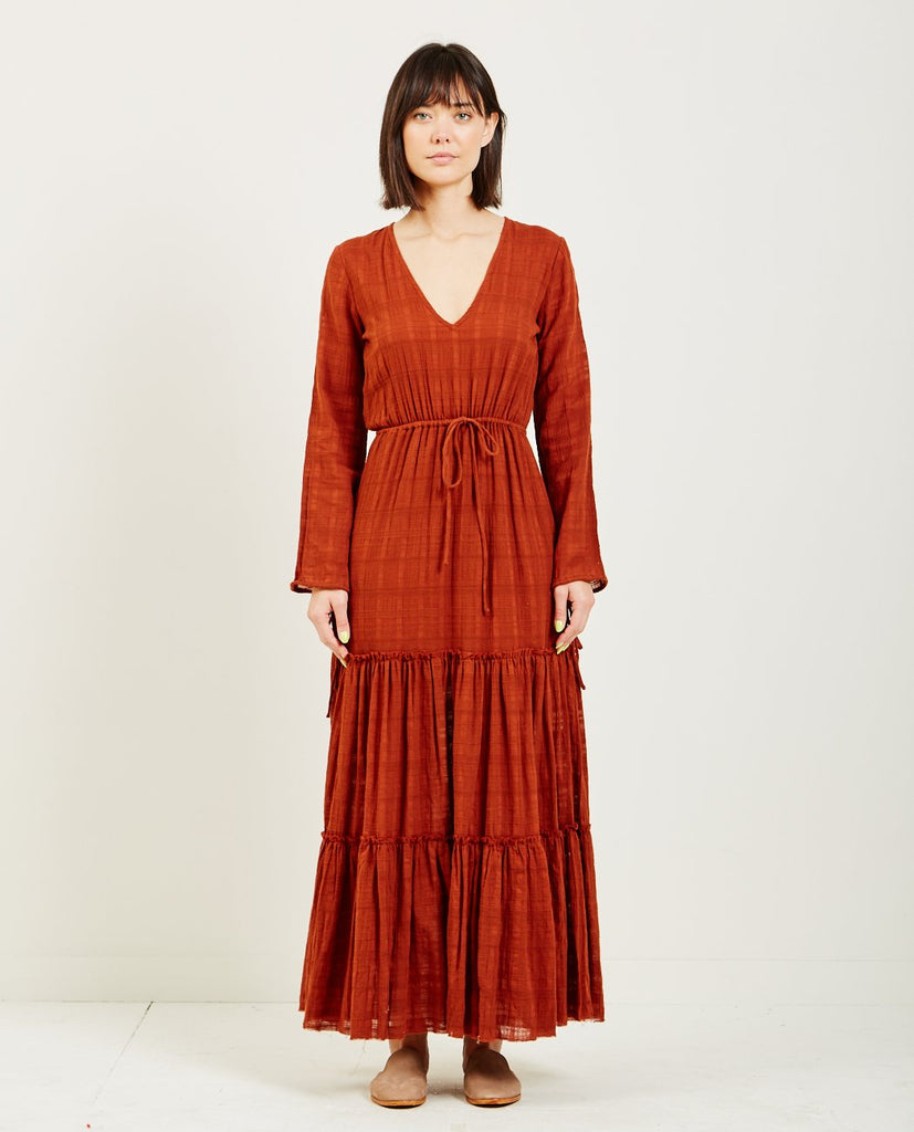 EVERGLADE TIERED MAXI DRESS-RUE STIIC-American Rag Cie