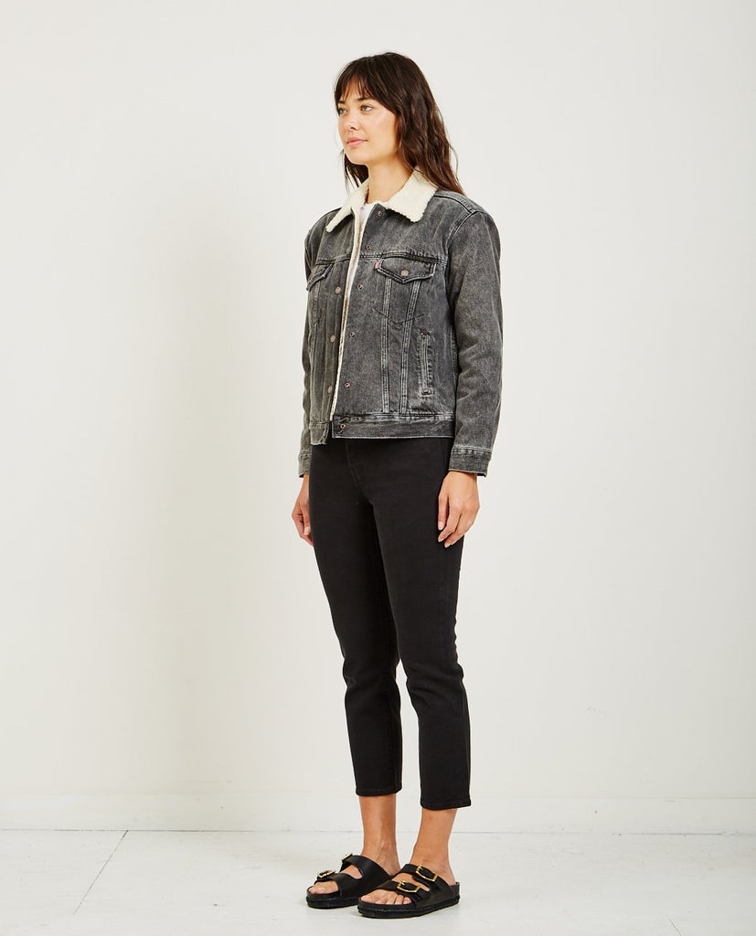 EX-BF SHERPA TRUCKER JACKET IN FADE TO BLACK-LEVI'S-American Rag Cie