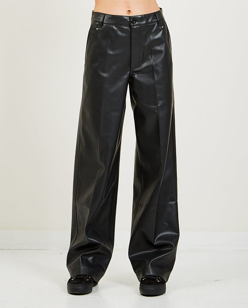 RICK OWENS DRKSHDW Faux Leather Jet Trousers