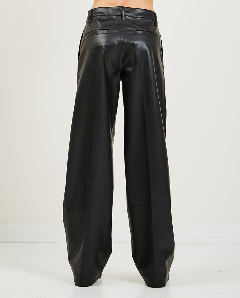 Faux Leather Jet Trousers-RICK OWENS DRKSHDW-American Rag Cie