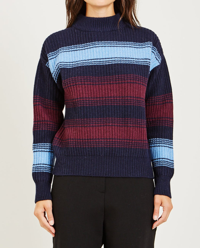 FELICE STRIPE SWEATER-WOOD WOOD-American Rag Cie