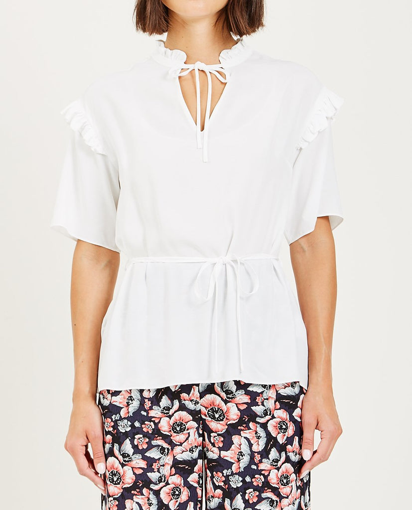 JUST FEMALE-FERRY BLOUSE - OFF WHITE-Blouses-{option1]