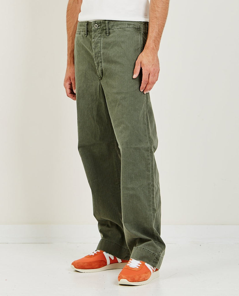 Field Chino Flat Pant Olive-RRL-American Rag Cie