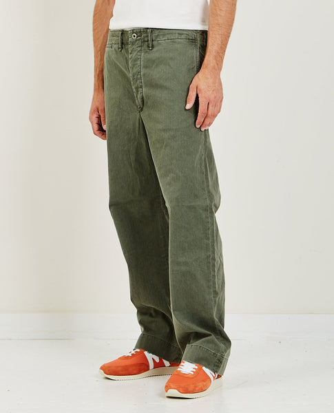 RRL Field Chino Flat Pant Olive