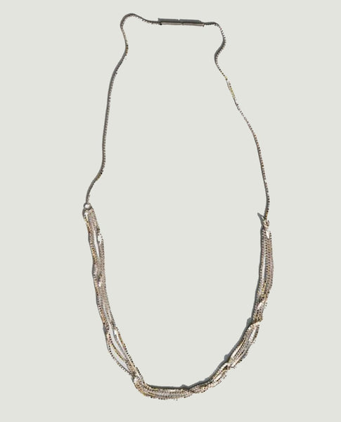 SASKIA DIEZ Fine 4 Line Necklace