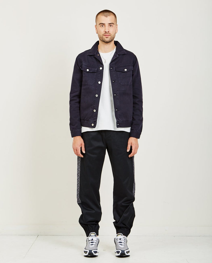 TRÈS BIEN-FINE TWILL JEAN JACKET-Men Coats + Jackets-{option1]