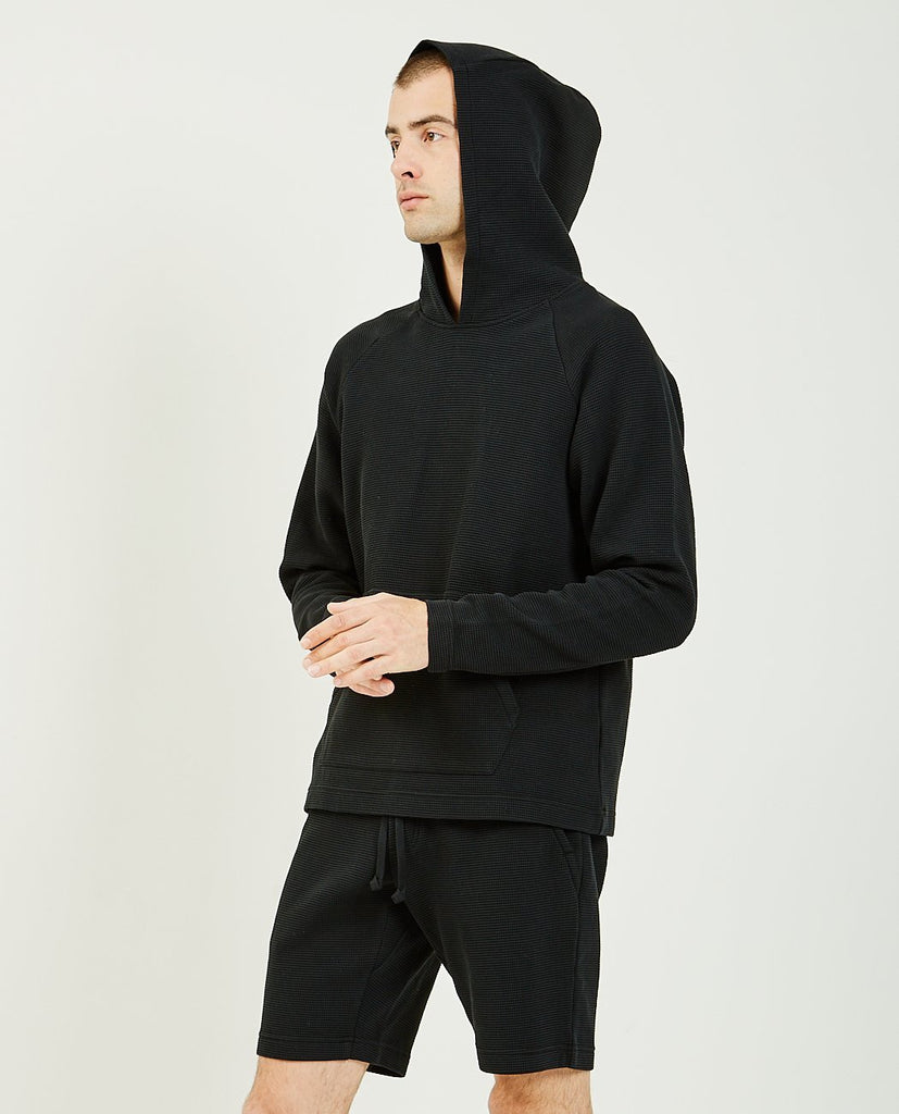WINGS+HORNS-Flatback Waffle Hooded Pullover-Men Sweaters + Sweatshirts-{option1]