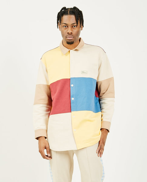 DROLE DE MONSIEUR Fleece Color Block Shirt