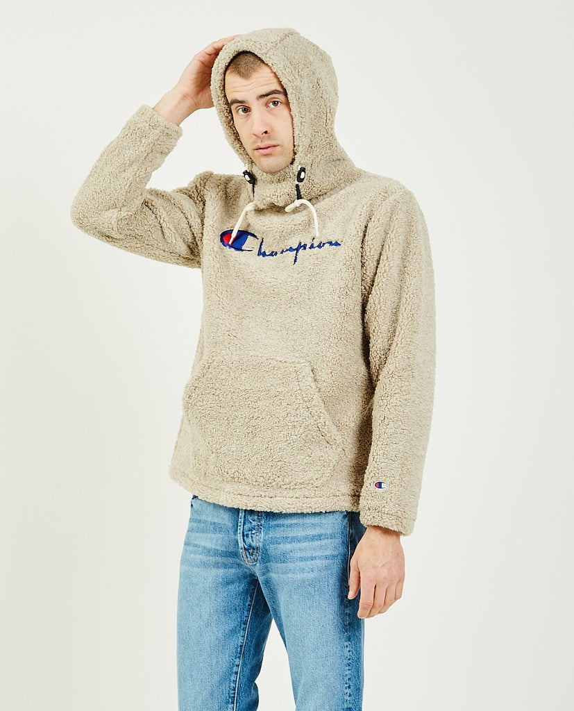 Fleece Hooded Pull-over Jacket-CHAMPION-American Rag Cie