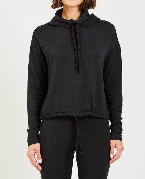 STATESIDE Fleece Hooded Sweatshirt Black