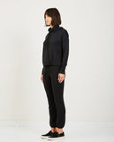STATESIDE-Fleece Hooded Sweatshirt Black-Women Sweaters + Sweatshirts-{option1]