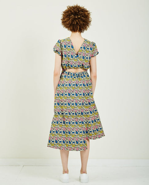 WNDERKAMMER FLOWER JACQUARD DRESS
