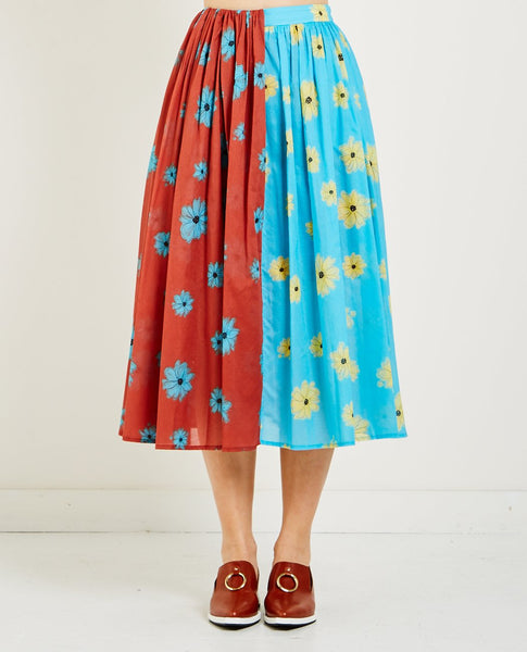 NEUL FLOWER SHIRRING SKIRT