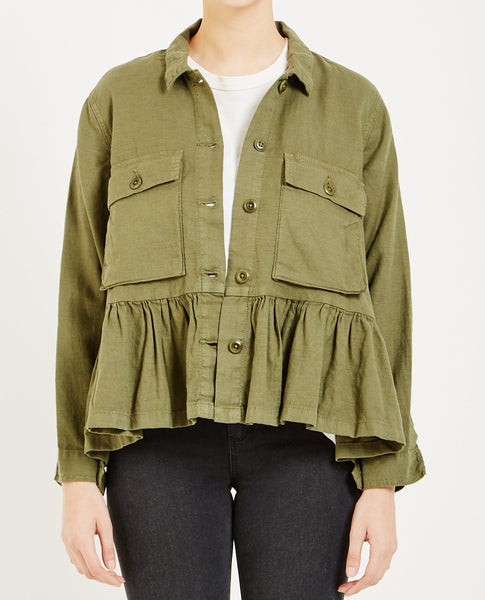 THE GREAT FLUTTER ARMY JACKET VINTAGE ARMY