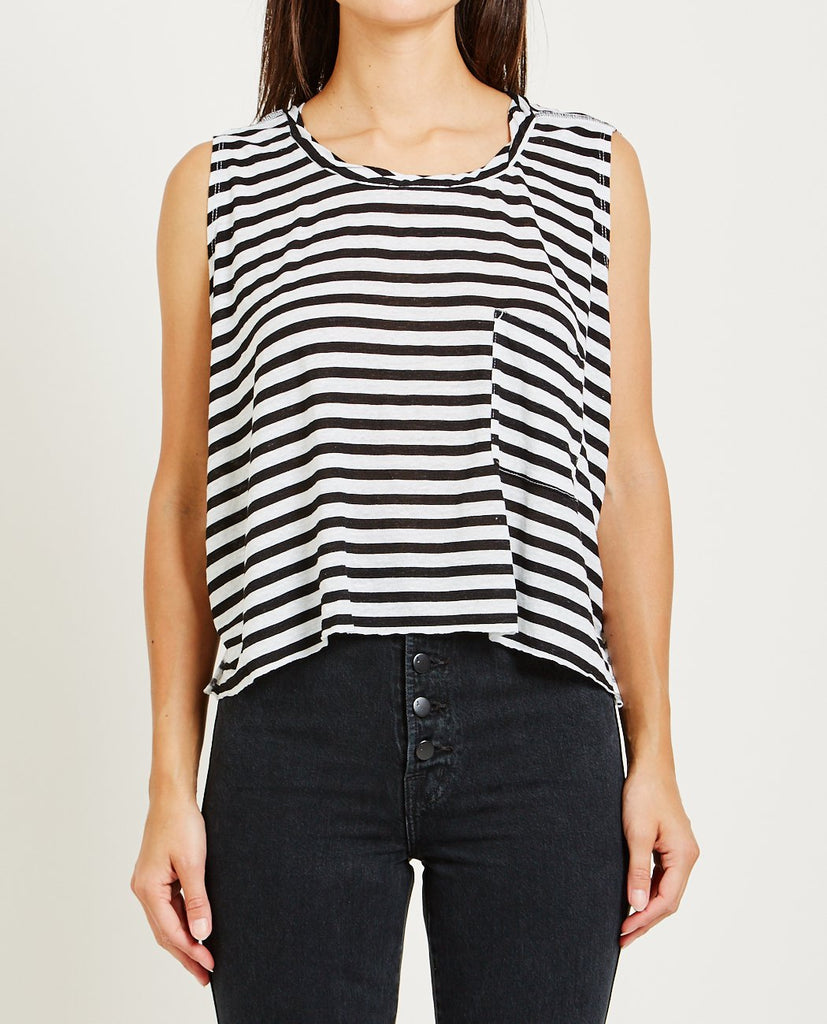 FONDA STRIPED TANK TOP-NSF-American Rag Cie