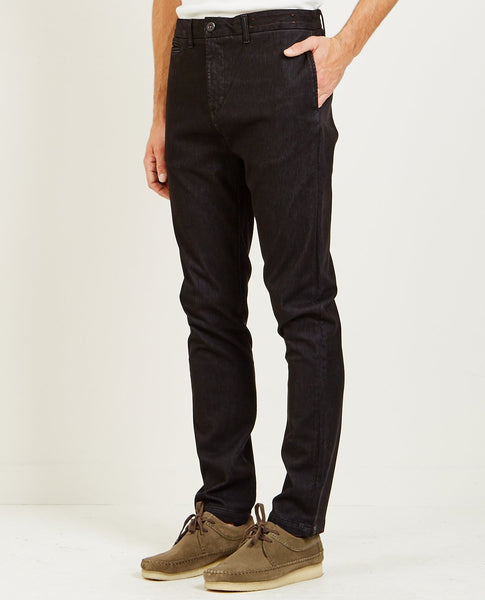 KATO FRENCH TERRY SLIM CHINO BLACK